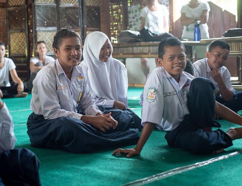 School children in a classroom in Sumatra